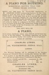 Advert for Charles Lynes, tailor